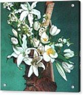 Floral White Lilies  Acrylic Print