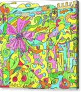 Floral World Acrylic Print