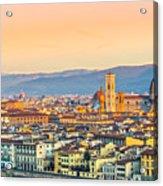 Florence At Sunrise - Tuscany - Italy Acrylic Print