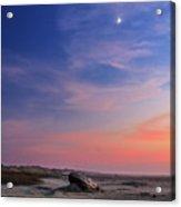 Florence Beach Twilight Moon Acrylic Print