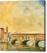 Florence Bridge Ponte Vecchio Acrylic Print