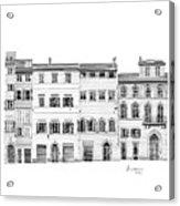 Florence City Scene Acrylic Print