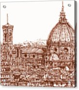Florence Duomo In Red Acrylic Print