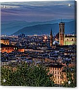 Florence In The Evening Acrylic Print