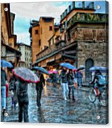 Florence In The Rain Acrylic Print