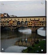 Florence Italy - An Autumn Day At Ponte Vecchio Acrylic Print