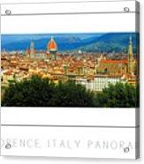 Florence, Italy Panoramic Poster Acrylic Print