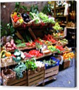 Florence Produce Stand Acrylic Print