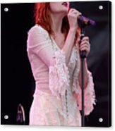 Florence Welch Singer Of Florence And The Machine Performing Live - 002 Acrylic Print
