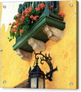 Flores Rojas En Cartagena Acrylic Print