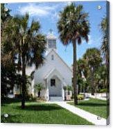 Florida Community Chapel Acrylic Print