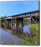 Florida East Coast Railroad Bridge Acrylic Print