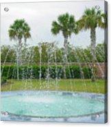 Florida Fountain Acrylic Print