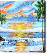 Florida Keys Beach Sunset Acrylic Print