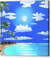 Florida Keys Moon Rise Acrylic Print