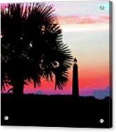 Florida Lighthouse Sunset Silhouette Acrylic Print