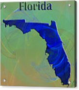 Florida Map Acrylic Print