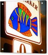 Florida Mile Marker 0 Acrylic Print