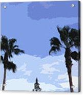 Florida Queen Palms   Acrylic Print