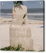 Florida Snow Man Acrylic Print