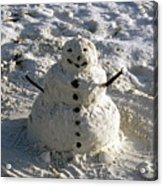 Florida Snowman Acrylic Print