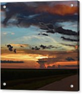 Florida Sunset Winding Road 2 Acrylic Print