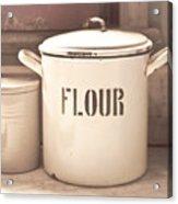 Flour Tin Acrylic Print