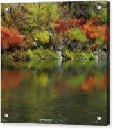 Flow Of Autumn Acrylic Print
