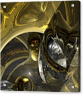Flow Of Silver And Gold Acrylic Print