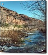 Flow Of The Verde River Acrylic Print
