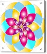 Flower 1317 - Abstract Art Print - Fantasy - Digital Art - Fine Art Print - Flower Print Acrylic Print