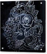 Flower And Bird Scratch Board Acrylic Print