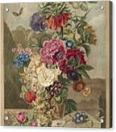 Flower Arrangement, Anthonie Van Den Bos, 1778 - 1838 B Acrylic Print