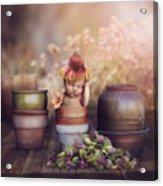 Flower Baby Acrylic Print
