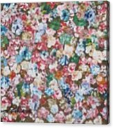 Flower Bed Acrylic Print