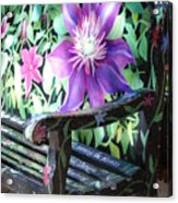 Flower Bench Acrylic Print