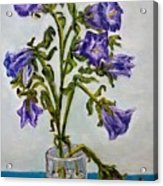 Flower  Bluebells Original Oil Painting Acrylic Print