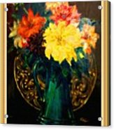 Bouquet For Mrs De Waldt H B With Decorative Ornate Printed Frame. Acrylic Print