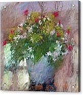 Flower Bowl Acrylic Print
