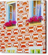 Flower Boxes In Slavonice Acrylic Print