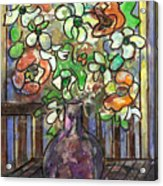 Flower Burst Acrylic Print by Ethel Vrana