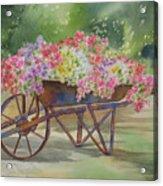 Flower Cart Acrylic Print