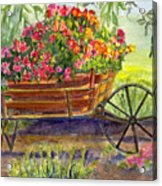 Flower Cart Acrylic Print