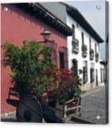 Flower Cart Old Antigua Acrylic Print