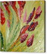 Flower Dots Acrylic Print