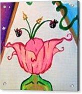 Flower Face Acrylic Print