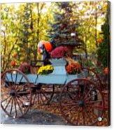 Flower Filled Wagon Acrylic Print