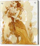Flower Girl Acrylic Print by Brian Kesinger