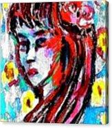 Flower Girl Portrait  Acrylic Print