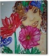 Flower Goddess  Acrylic Print